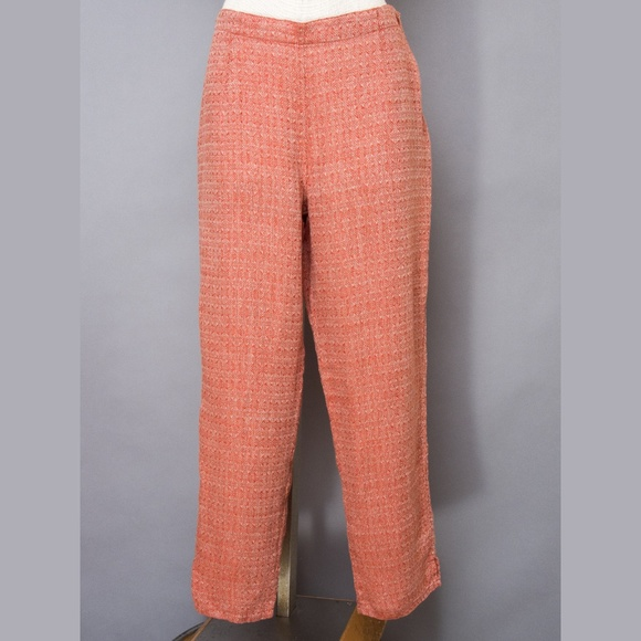Flax Pants - Flax linen pants orange copper NWOT small